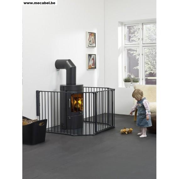 barri re pare feu en m tal fixation murale securite a la maison mecabel. Black Bedroom Furniture Sets. Home Design Ideas