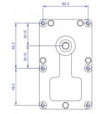 Motoréducteur MELLOR 1,5 RPM - série T3, alimentation 220VCA - diamètre 8,5 mm