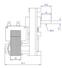 Motoréducteur MELLOR 2 RPM - série T3, alimentation 220VCA