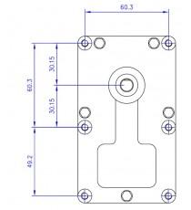 Motoréducteur MELLOR 2 RPM - série T3, alimentation 220VCA - diamètre 8,5 mm