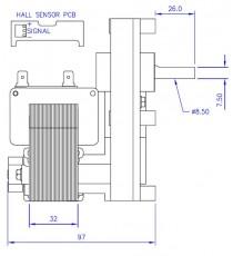 Motoréducteur MELLOR 3 RPM - série T3, alimentation 220VCA