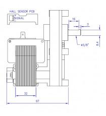 Motoréducteur MELLOR 4 RPM, série T3 alimentation 220VCA