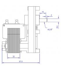 Motoréducteur MELLOR 3 RPM, série T3 alimentation 220VCA