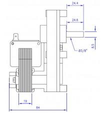 Motoréducteur MELLOR 1,5 RPM, série T3 alimentation 220VCA