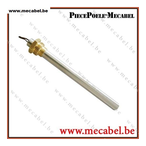"""Bougie diamètre 9,9 mm avec raccord fileté de 3/8"""" GAS - Longueur 140 mm"""