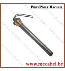 """Bougie diamètre 12,5 mm avec raccord fileté de 3/8"""" GAS - Longueur 114 mm"""