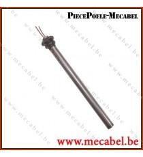 """Résistance diamètre 12,5 mm avec raccord fileté 1/2"""" - Longueur 190 mm"""