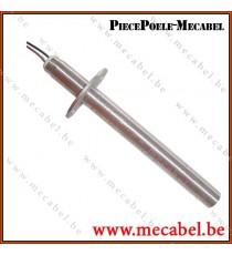 Bougie avec bride Diamètre 12,5 mm Longueur 132 mm