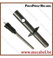 Kit bougie d'allumage avec tube de canalisation d'air - Diamètre 16,2 mm Longueur 153 mm
