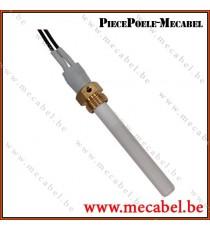 """Bougie céramique avec raccord 3/8"""" GAS - Diamètre 10,5 mm Longueur 88 mm"""