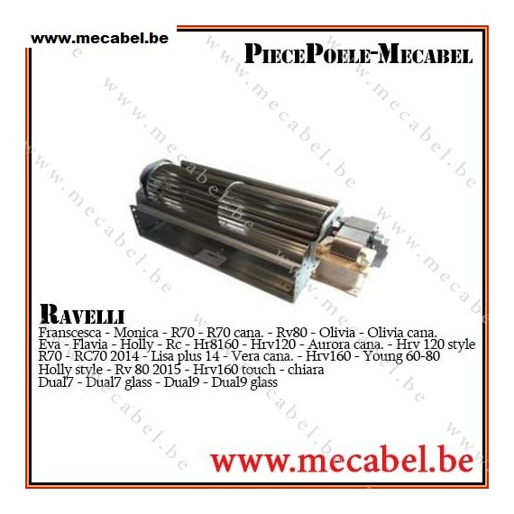 Ventilateur Ambiance Qln65 2400 Ravelli Mecabel